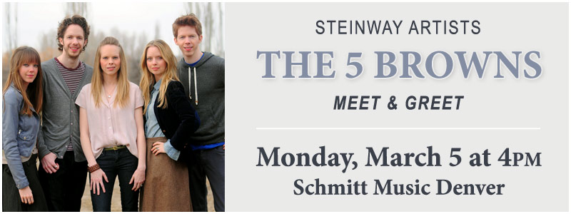 Steinway artists the 5 browns meet greet denver schmitt music m4hsunfo Images