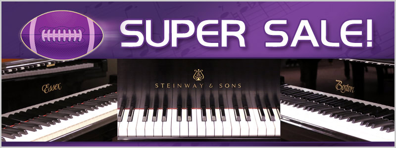 Super Sale Steinway Savings at Schmitt Music piano stores