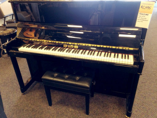 "Used Perzina GP122 2007 48"" Ebony Polish Studio Piano"