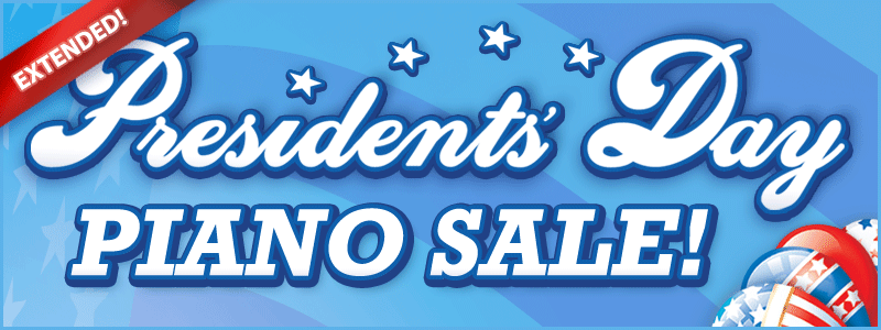 Presidents' Day Piano Sale at Schmitt Music Kansas City