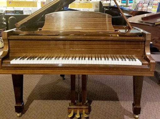 "Used Samick G-1A 5'1"" Brown Mahogany Grand Piano"