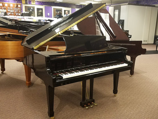 "Used Lyrica CRG-410 4'10"" Ebony Polish Grand Piano"