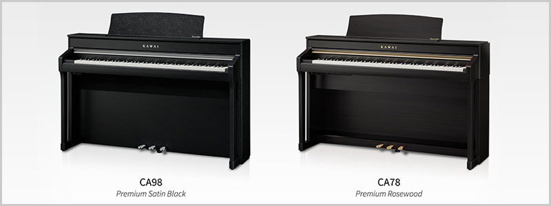 Kawai CA90 and CA78 Concert Artist Series digital pianos