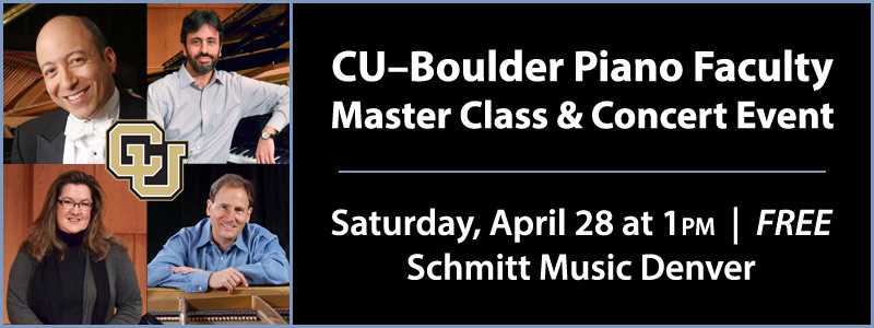 CU – Boulder Master Class & Concert Event at Schmitt Music Denver
