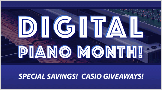 Digital Piano Month: special savings, Casio giveaways and more