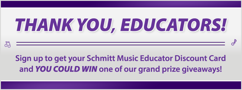 Music Educator Appreciation: Enter to win thank you prizes!