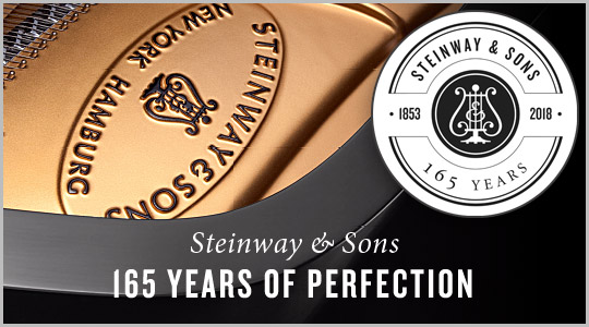 Steinway & Sons pianos 165th Anniversary: special savings and financing