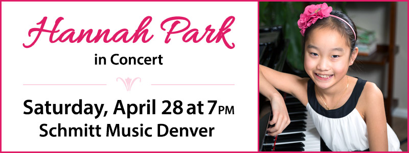 Pianist Hannah Park in Concert | Denver, CO