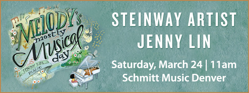"Steinway Artist Jenny Lin presents ""Melody's Mostly Musical Day"" at Schmitt Music Denver"