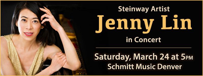 Steinway Artist Jenny Lin in Concert at Schmitt Music Denver