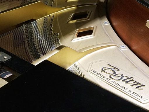 "Used Boston GP156 5'1"" Ebony Polish Grand Piano"