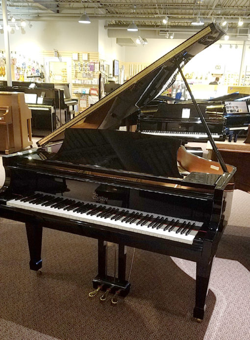"Used Boston GP156 5'1"" Ebony Polish Grand Piano"