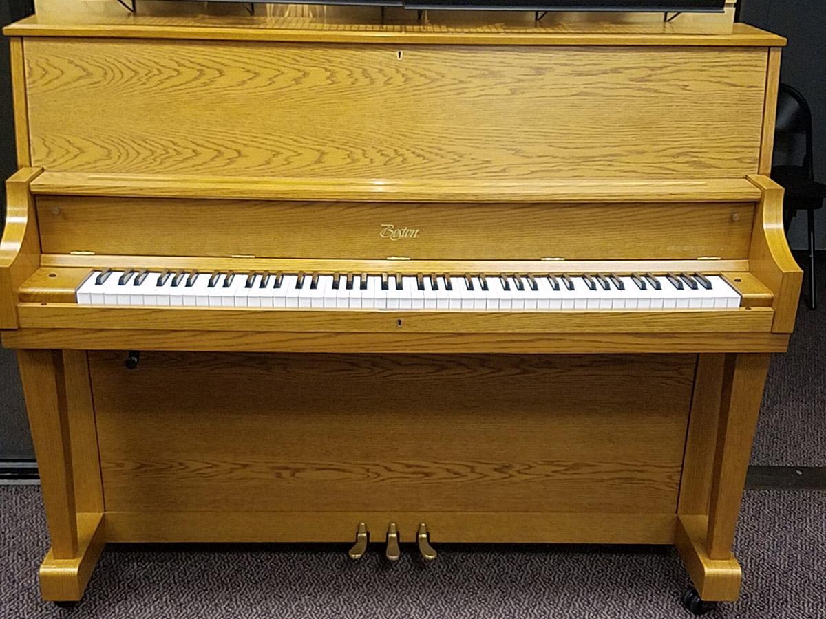 Used Boston U118S Oak Satin Studio Piano