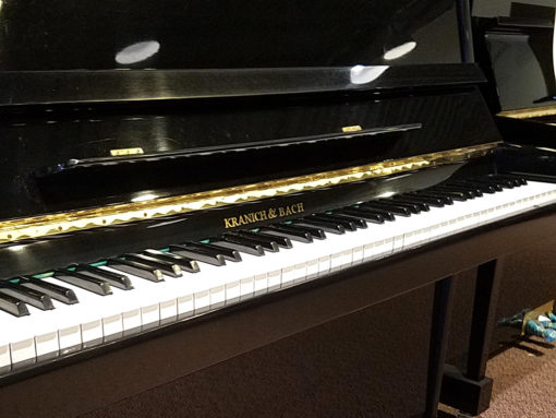 Used Koranic & Bach BP50 Ebony Polish Upright Piano