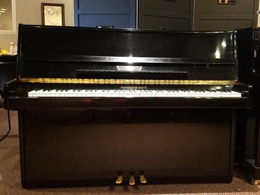 Used Kranich & Bach BP50 Ebony Polish Upright Piano