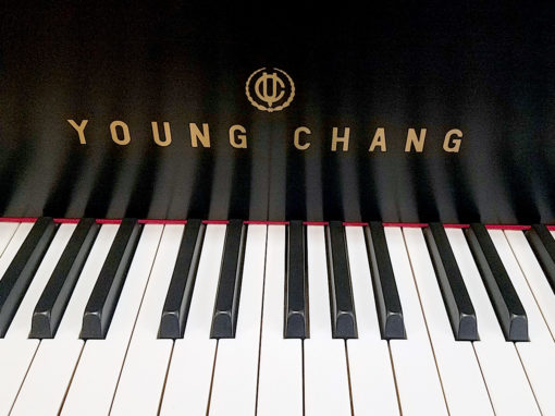 "Used Young Chang G157 5'2"" Ebony Satin Baby Grand Piano"
