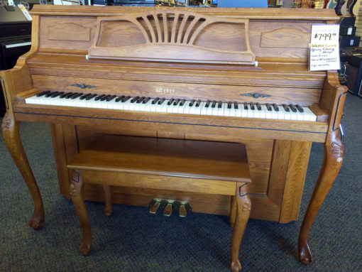 Used Weber WF110 Queen Anne Oak Console Piano
