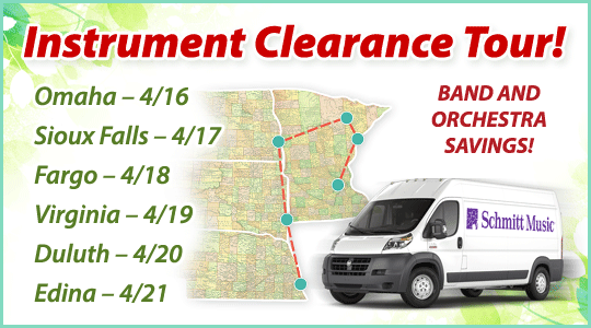 Band and Orchestra Instrument Clearance Tour