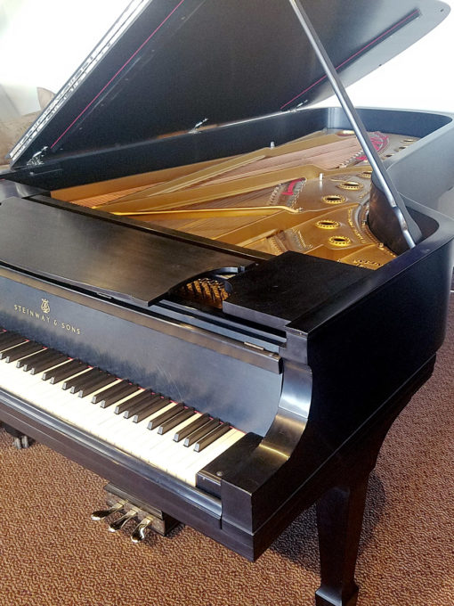 Used Steinway Model D Ebony Satin Grand Piano