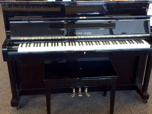 Used Young Chang Ebony Polish Upright Piano