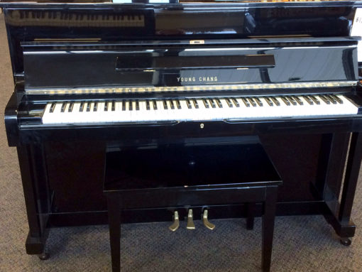 Used Young Chang Ebony Polish Upright Piano