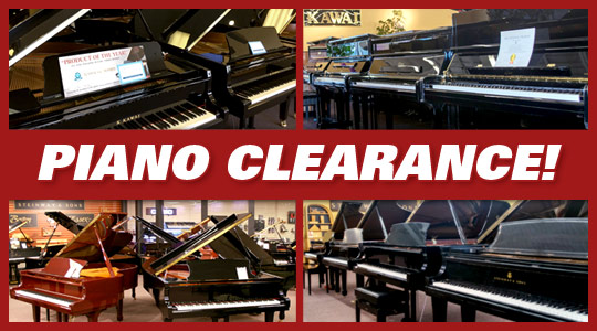 Piano Clearance Sale at Schmitt Music stores