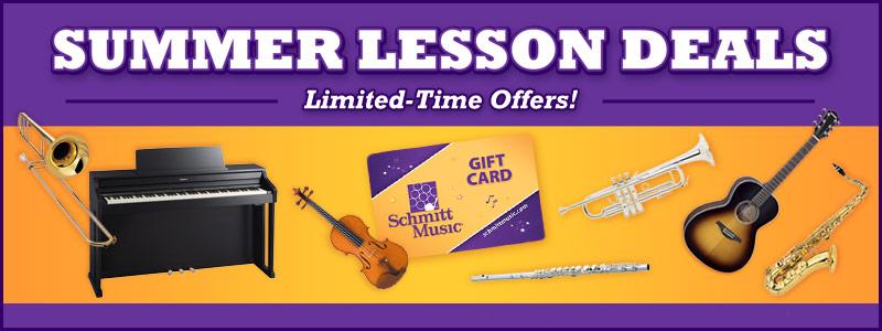 Summer Music Lesson Offer at Schmitt Music!