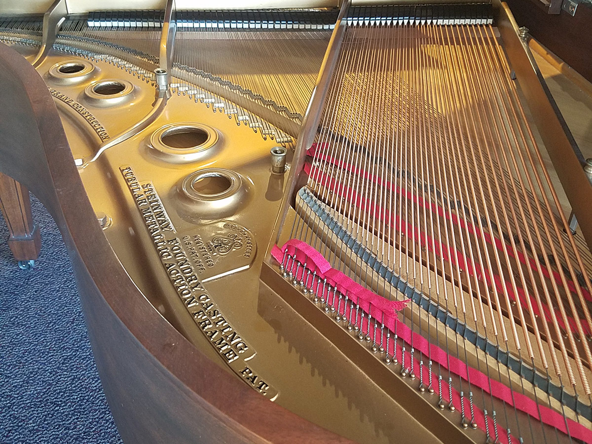 """Used Steinway L 5'10"""" Mahogany Grand Piano"""