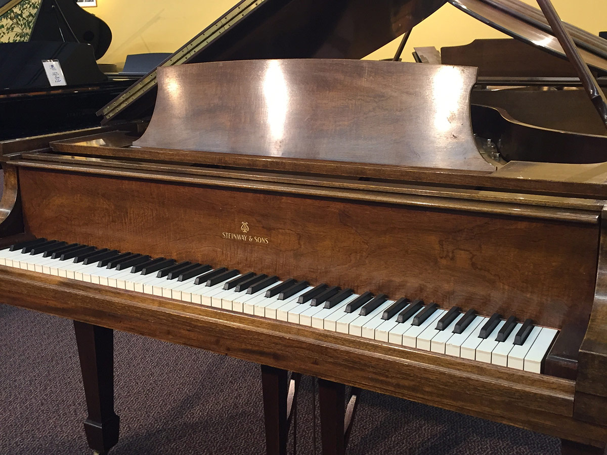 Rebuilt Steinway Model M 1949 Walnut Grand Piano