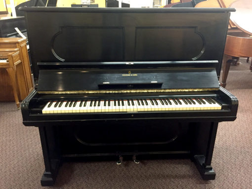 "Vintage Steinway Model K 1881 53 3/4"" Ebony Satin Upright Piano"