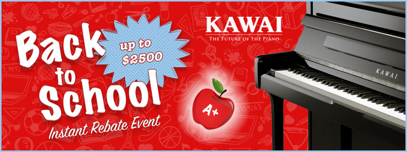 Kawai Back-to-School Instant Rebates up to $2,500 Extended through September!