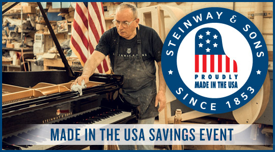 Steinway and Sons Made in the USA Savings Event at Schmitt Music