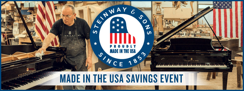 Steinway Made in the USA Savings Event in July