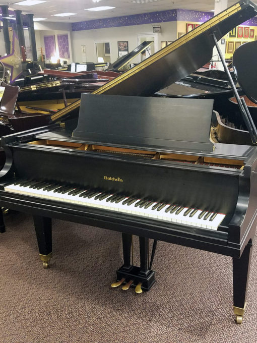 "Used Baldwin L 6'3"" Ebony Satin Grand Piano"