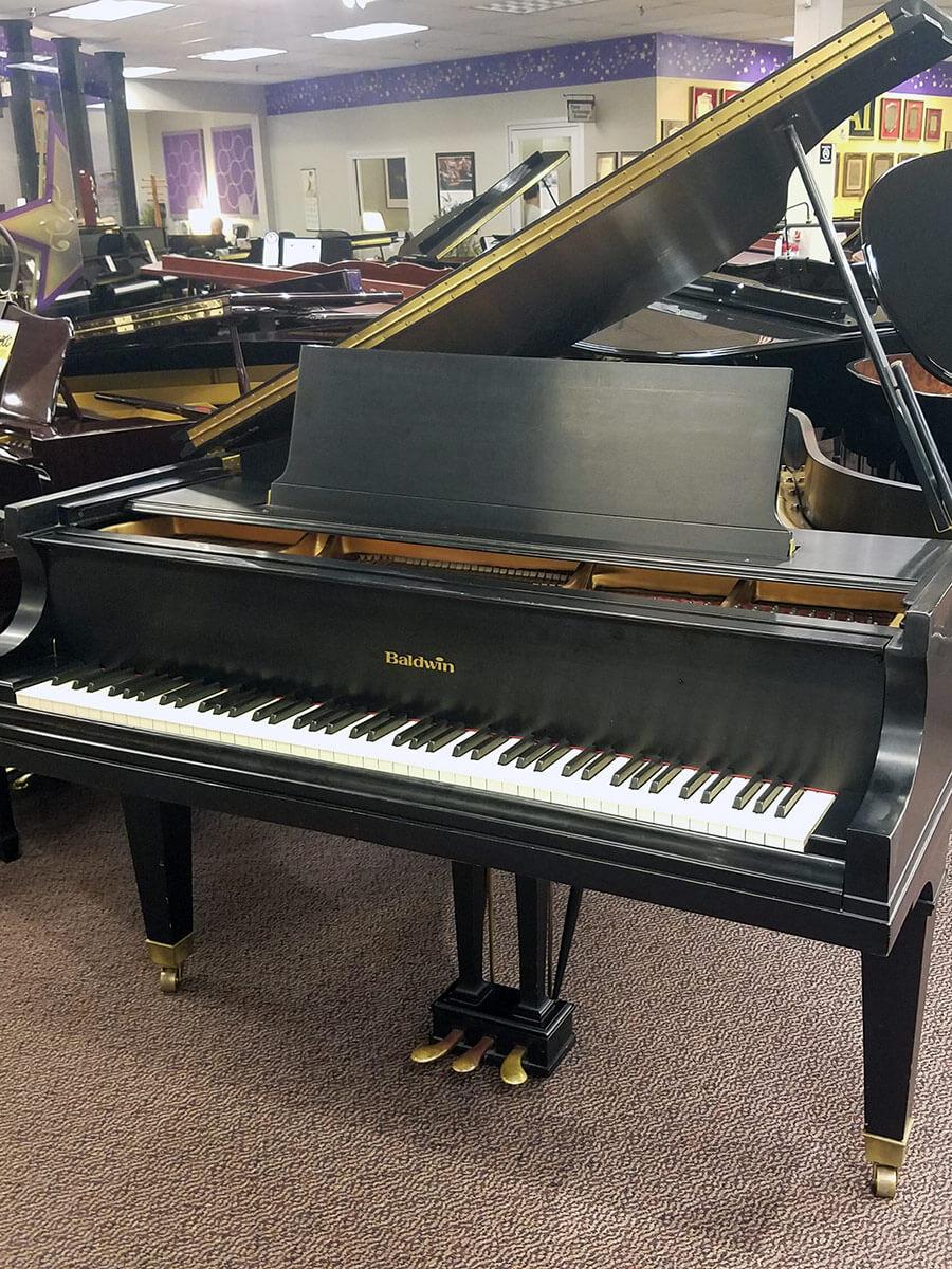"Used Baldwin L 6'3"" Ebony Satin Grand Piano"