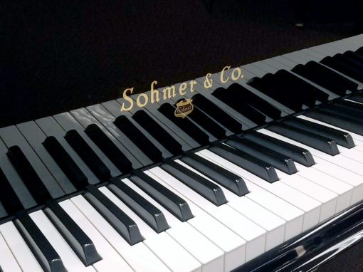 Used Sohmer 50T Ebony Polish Baby Grand Piano
