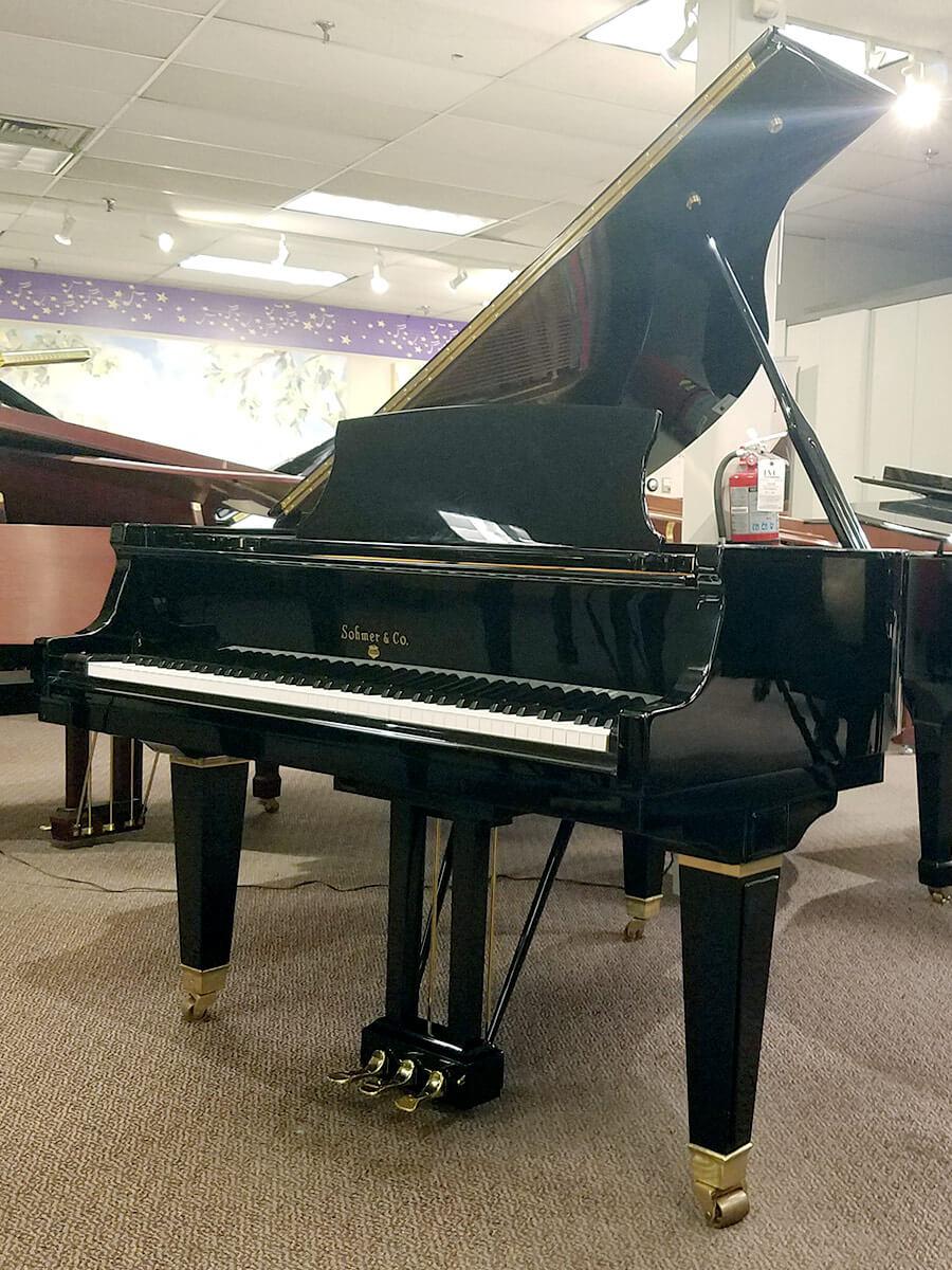 Used Sohmer 50T Ebony Polish Baby Grand Piano