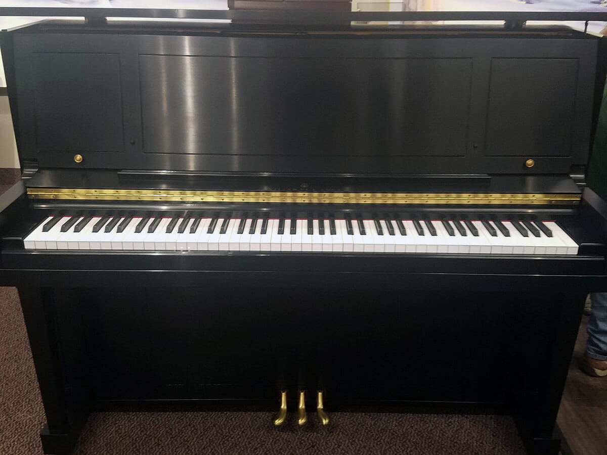 Used Steinway 1098 Ebony Satin Upright Piano