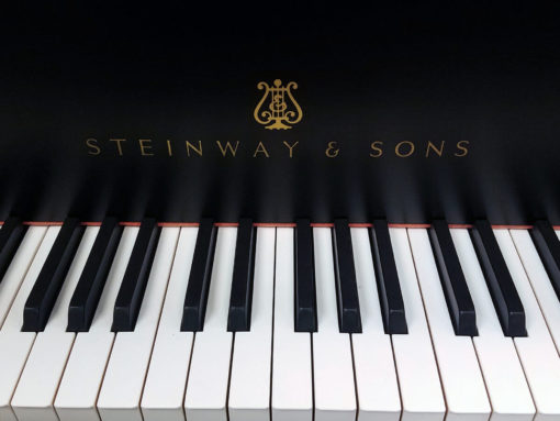 """Used Steinway Model A 6'1"""" Ebony Satin Grand Piano"""