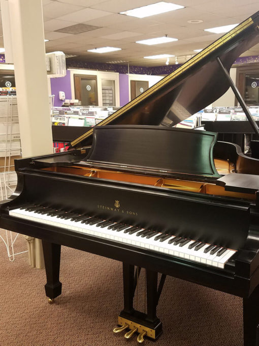 "Used Steinway Model A 6'1"" Ebony Satin Grand Piano"
