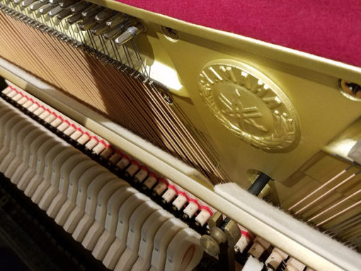 Used Yamaha T116 Ebony Polish Upright Piano