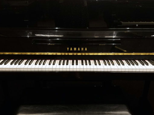 Used Yamaha T116 Ebony Polish Upright Piano