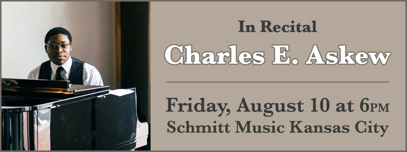 Charles E. Askew in Recital at Schmitt Music Kansas City