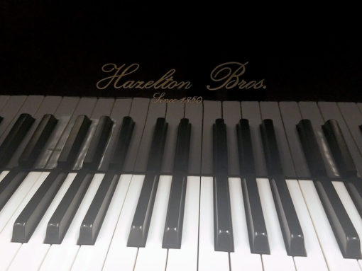 "Used Hazleton Bros. HB-140 4'7"" Ebony Polish Grand Piano"