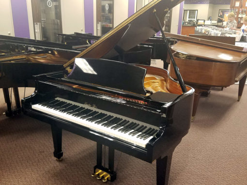"Used Hazleton Bros. HB-140 4'7"" Ebony Polish Grand Piano"