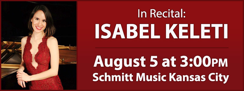In Recital: Isabel Keleti at Schmitt Music Kansas City