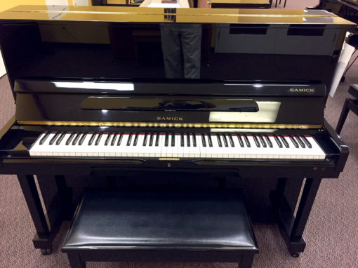 Used Samick Ebony Polish Studio Piano