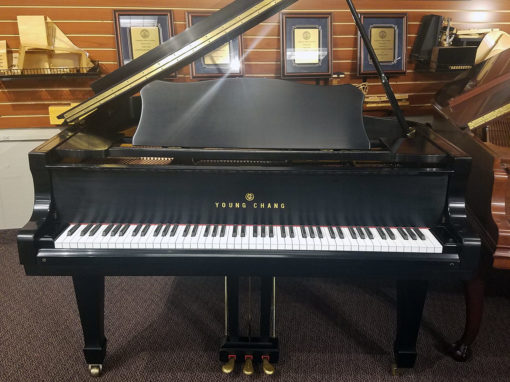 "Used Young Chang G150 4'11"" Ebony Satin Grand Piano"