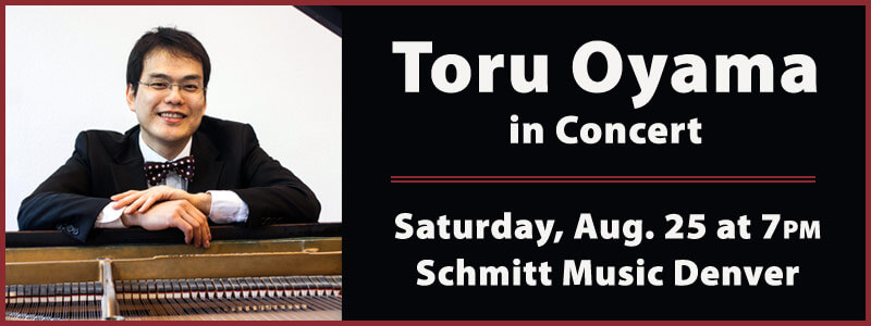 Toru Oyama in Concert at Schmitt Music Denver