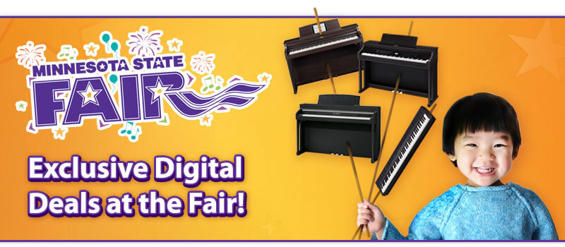 Minnesota State Fair Savings on Digital and Hybrid Pianos!